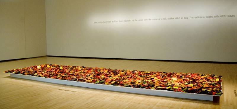 Installation view of Fallen at the Taubman Museum of Art, Roanoke, VA, 2010