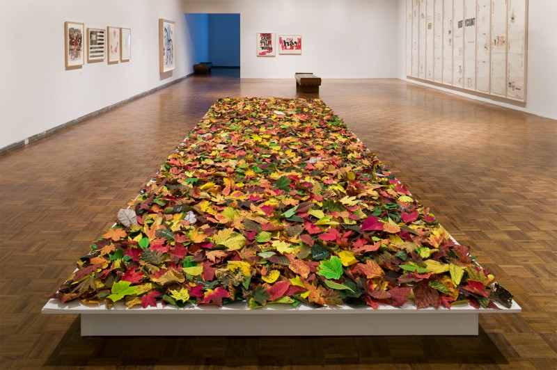 Installation view of Fallen at the Whitney Museum of American Art, New York, 2007