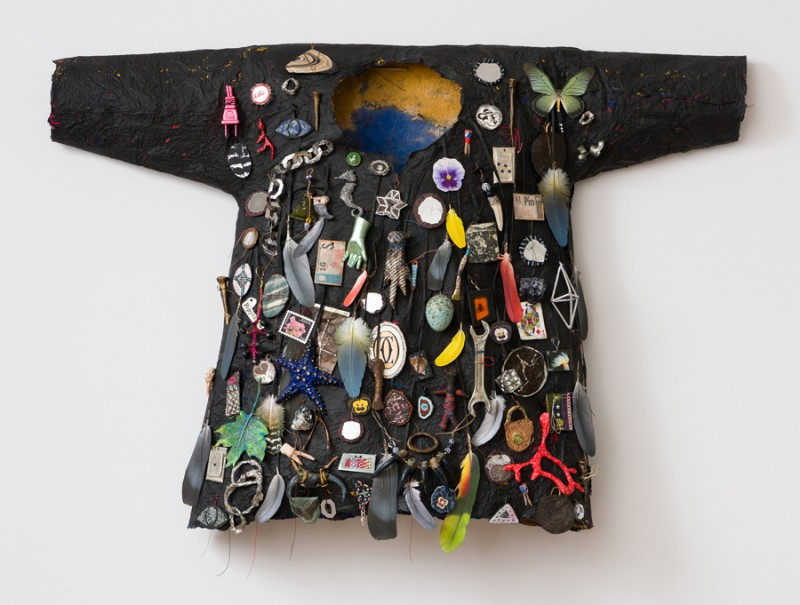 Black Shirt with Starfish, Lucille Ball and Padlock