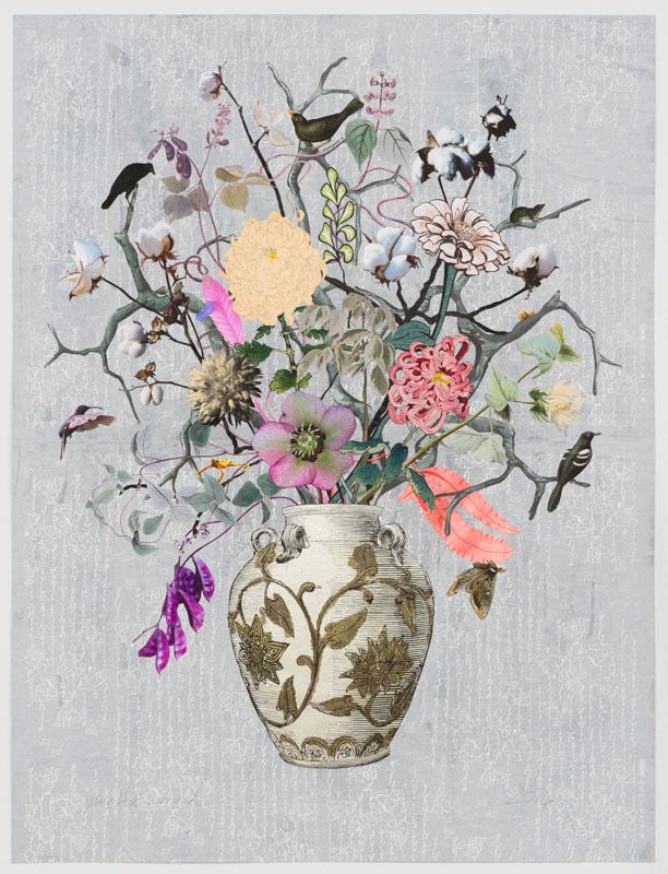 korean-vase-with-hyacinth-beans-cotton